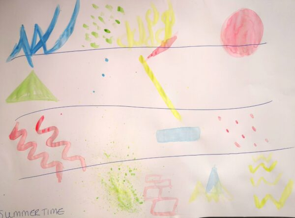 Graphic score: Summertime by Emily McGroarty