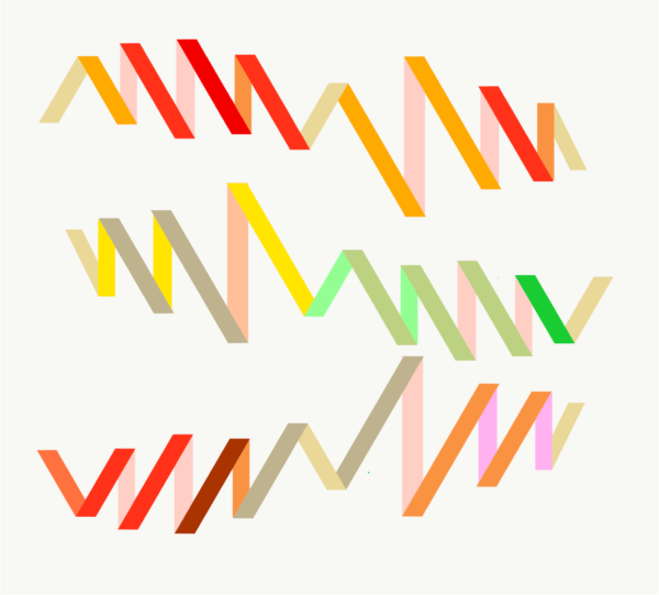 Graphic score: Three Short Runs by Caroline Pullen